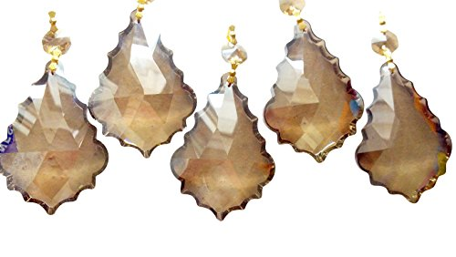 76mm-Chandelier-Crystals-Champagne-French-Cut-Prism-Ornament-Pack-of-5-0