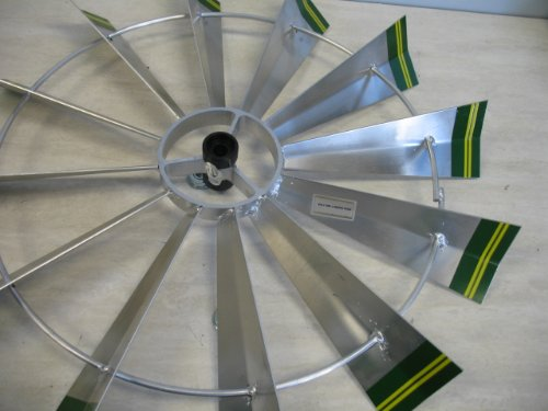 8-Ft-Premium-Aluminum-Decorative-Garden-Windmill-Green-Trim-0-0