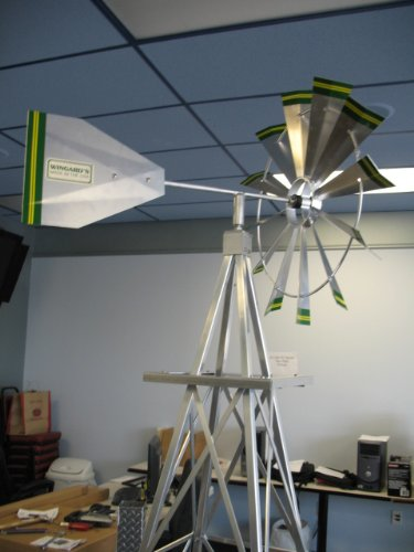 8-Ft-Premium-Aluminum-Decorative-Garden-Windmill-Green-Trim-0-1
