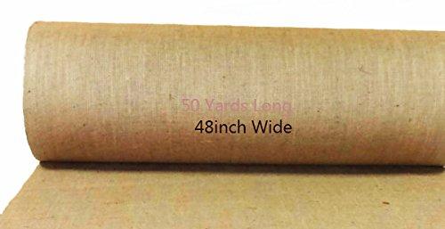 AAYU-Brand-Premium-Burlap-Fabric-Liner-Roll-48-inch-x-10-oz-50-Yards-DIY-Burlap-Weed-Barrier-Eco-Friendly-Natural-Jute-Fabric-Roll-4ft-x-150ft-Long-Wedding-Aisle-Runner-0