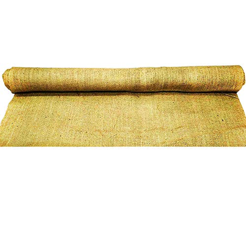 AAYU-Brand-Premium-Burlap-Fabric-Liner-Roll-Narrow-34-inch-x-10-oz-20-Yards-No-Fray-Eco-Friendly-Natural-Jute-Ribbon-Roll-Narrow-Width-60-ft-Aisle-Runner-0