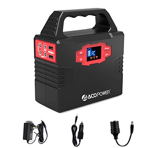 ACOPOWER-150Wh40800mAh-Portable-Generator-Power-Supply-Solar-Energy-Storage-Lithium-ion-Battery-with-AC-Power-Inverters-110V60Hz-USB-Ports-5V3A-DC-Ports-9126V15A-Charged-by-ACSolar-Panels-0