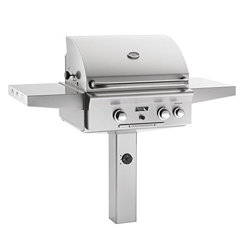 AOG-American-Outdoor-Grill-24NGT-T-Series-24-inch-Natural-Gas-Grill-On-in-Ground-Post-Rotisserie-0