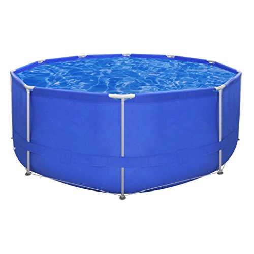 Above-Ground-Swimming-Pool-Steel-Frame-Round-12-x-4-swimming-pool-Pool-wall-reinforced-with-a-polyester-mesh-0