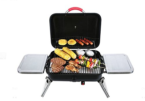 Albmax-expert-Gas-Grill-Portable-Tabletop-BBQ-Propane-with-2-Side-Shelves-Barbeque-Camping-Barbecue-Grills-Outdoor-Backyard-Patio-0-0