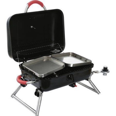 Albmax-expert-Gas-Grill-Portable-Tabletop-BBQ-Propane-with-2-Side-Shelves-Barbeque-Camping-Barbecue-Grills-Outdoor-Backyard-Patio-0-1