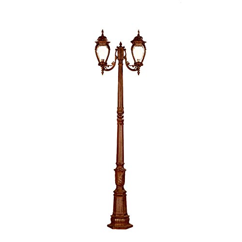 Alico-Lighting-7018BW-Acclaim-Lighting-Burled-Walnut-Finished-Outdoor-Postmount-with-Clear-Melon-Seeded-Glass-Shades-0