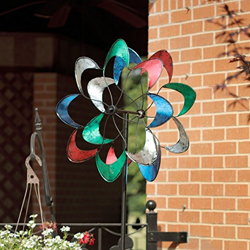 American-Furniture-Classics-Colorful-Petals-Wind-Spinner-0