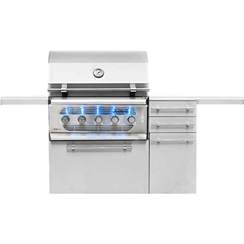 American-Muscle-Grill-Grilling-Gas-Grills-AMG36-LP-AMG36-CART-Freestanding-Dual-Fuel-WoodCharcoal-Gas-Grill-36-inch-Propane-0