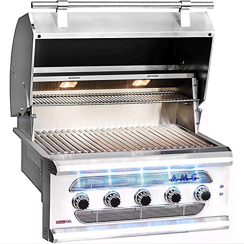 American-Muscle-Grill-Grilling-Gas-Grills-AMG36-LP-Built-in-Dual-Fuel-WoodCharcoal-Gas-Grill-36-inch-Propane-0-0
