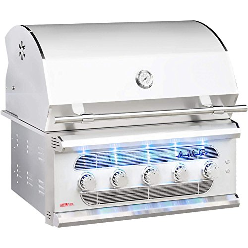 American-Muscle-Grill-Grilling-Gas-Grills-AMG36-LP-Built-in-Dual-Fuel-WoodCharcoal-Gas-Grill-36-inch-Propane-0