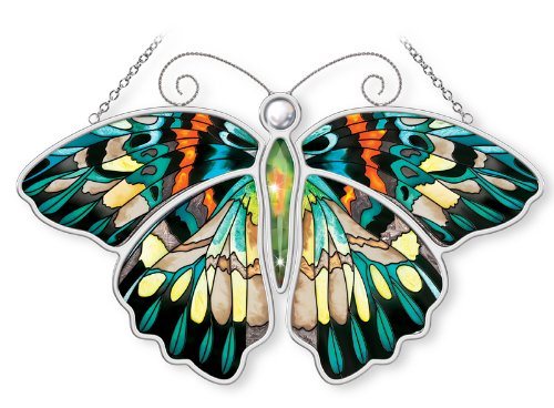 Amia-Butterfly-Hand-Painted-Glass-Suncatcher-Multicolored-10-12-Inch-0