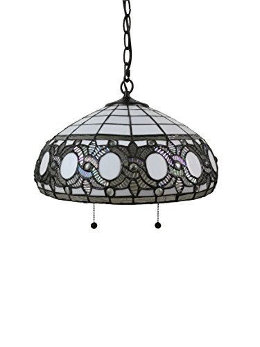 Amora-Lighting-AM298HL16-16-Inches-Wide-Tiffany-Style-White-Hanging-Lamp-16-0-0