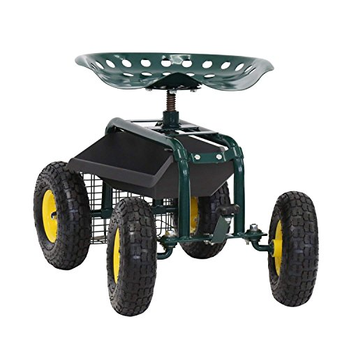 ArmPro-Garden-Cart-Rolling-Work-Seat-with-Tool-Tray-and-Storage-Basket-360-Degree-Swivel-Seat-300-Lbs-Weight-Capacity-0-0