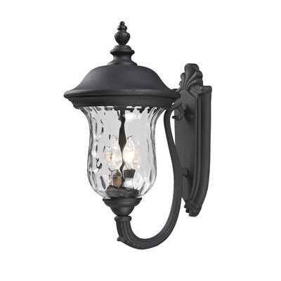 Armstrong-2-Light-Outdoor-Wall-Lighting-Frame-Finish-Black-Size-195-H-x-10-W-0
