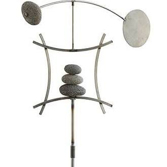 Aura-Life-Zen-Garden-Spinner-Kinetic-Wind-Sculpture-Balanced-Arch-Yard-Decor-with-Rock-Cairn-and-Stake-Relaxing-Metal-Art-Wind-Vane-Sculptures-Handmade-in-The-USA-0