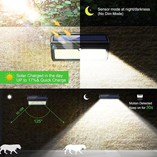 BAXIA-TECHNOLOGY-LED-Solar-Lights-Outdoor-400-Lumens-Wireless-Waterproof-Motion-Sensor-Security-Lights-for-Front-DoorOutside-WallBack-YardGarageGardenFenceDriveway-Upgraded-28LED-2-Packs-0-1