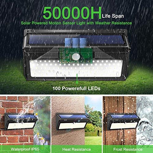 BAXIA-TECHNOLOGY-LED-Solar-Lights-Outdoor-400-Lumens-Wireless-Waterproof-Motion-Sensor-Security-Lights-for-Front-DoorOutside-WallBack-YardGarageGardenFenceDriveway-Upgraded-28LED-2-Packs-0-2