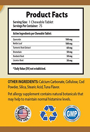 BEST-PET-SUPPLIES-LLC-allergy-dog-treats-ADVANCED-ALLERGY-RELIEF-FOR-DOGS-ONLY-HEALTHY-IMMUNE-RESPONSE-CHEWABLE-licorice-root-for-dogs-150-Chews-2-Bottle-0-0