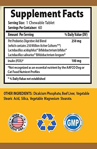 BEST-PET-SUPPLIES-LLC-cat-digestive-health-PET-DIGESTIVE-AID-FOR-CATS-AND-DOGS-CHEWABLE-ADVANCED-PROBIOTIC-acidophilus-for-cats-120-Chews-2-Bottle-0-0