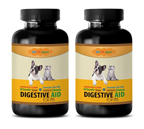 BEST-PET-SUPPLIES-LLC-cat-digestive-health-PET-DIGESTIVE-AID-FOR-CATS-AND-DOGS-CHEWABLE-ADVANCED-PROBIOTIC-acidophilus-for-cats-120-Chews-2-Bottle-0