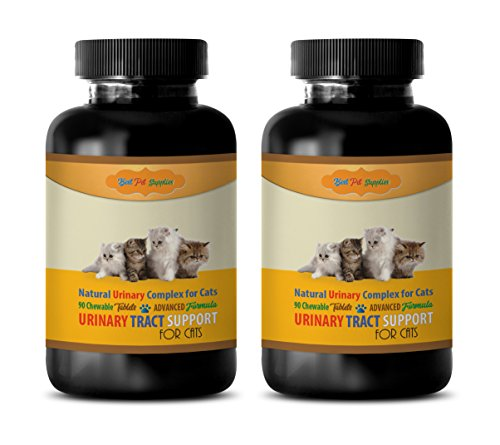 BEST-PET-SUPPLIES-LLC-cat-urinary-tract-supplement-CAT-URINARY-TRACT-SUPPORT-ADVANCED-NATURAL-URINARY-COMPLEX-CHEWABLE-TREAT-urinary-tract-for-cats-180-Chews-2-Bottle-0