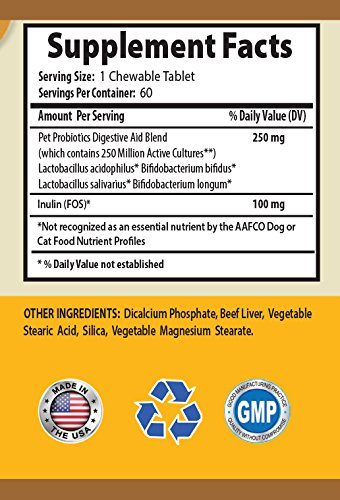 BEST-PET-SUPPLIES-LLC-digestive-health-for-cats-DIGESTIVE-AID-FOR-CATS-SAVORY-BEEF-FLAVOR-PROBIOTIC-FORMULA-CHEWABLE-digestive-enzymes-for-cats-tablets-120-Chews-2-Bottle-0-0