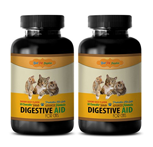 BEST-PET-SUPPLIES-LLC-digestive-health-for-cats-DIGESTIVE-AID-FOR-CATS-SAVORY-BEEF-FLAVOR-PROBIOTIC-FORMULA-CHEWABLE-digestive-enzymes-for-cats-tablets-120-Chews-2-Bottle-0