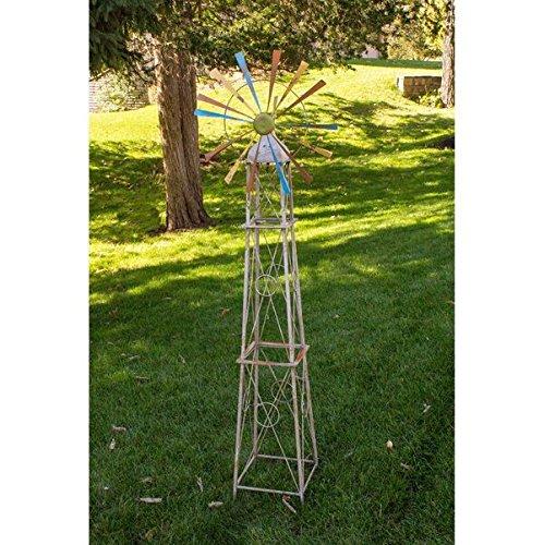 Backyard-Expressions-908798-Rainbow-Windmill-Decoration-0-0