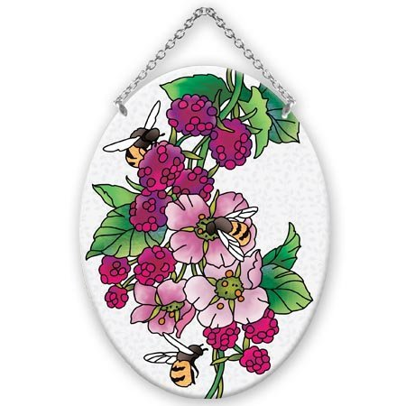 Bees-Raspberries-Stained-Glass-Suncatcher-MO329R-0