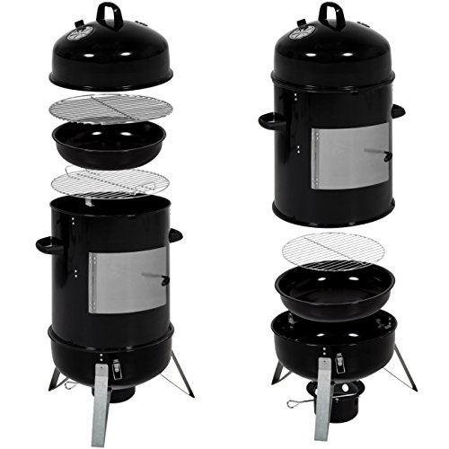 Best-Choice-Products-43in-3-Piece-Outdoor-BBQ-Charcoal-Vertical-Design-Smoker-Black-0-0