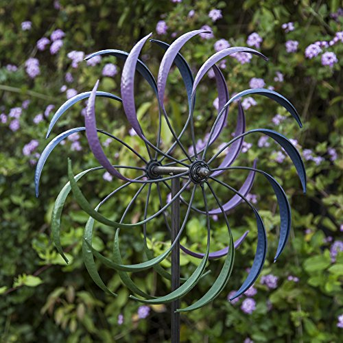 Best-Choice-Products-74in-Rainbow-Tri-Colored-Metal-Wind-Spinner-Multicolor-0-0