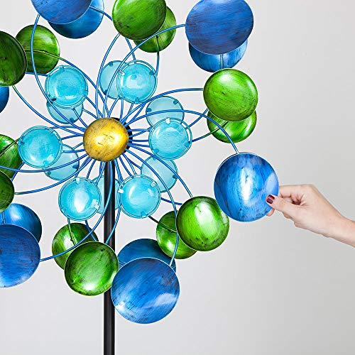 Bits-and-Pieces-63-Multi-Colored-Aurora-Borealis-Wind-Spinner-Reflects-Sunlight-to-Create-Spectacular-Glowing-Effect-Steel-Outdoor-Lawn-and-Garden-Dcor-0-1