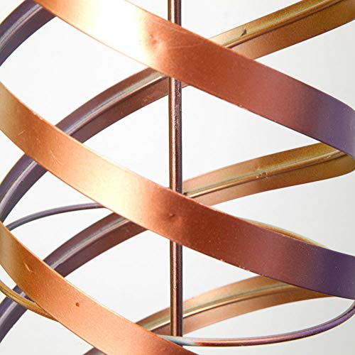 Bits-and-Pieces-Metal-Coil-Wind-Twirler-Giant-Pastel-Hanging-Wind-Spinner-Unique-Outdoor-Lawn-and-Garden-Dcor-0-2