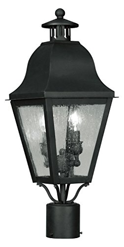 Black-Amwell-Post-Light-with-2-Lights-0