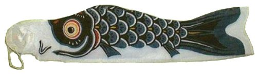Black-Koinobori-Carp-Windsock-10-foot-TKN009BK-0