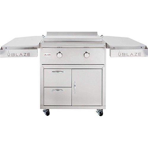 Blaze-30-Inch-Freestanding-Gas-Griddle-with-Shelf-Kit-BLZ-Griddle-LTE-NG-BLZ-Griddle-LTE-CART-Natural-Gas-0-0