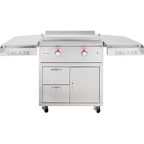 Blaze-30-Inch-Freestanding-Gas-Griddle-with-Shelf-Kit-BLZ-Griddle-LTE-NG-BLZ-Griddle-LTE-CART-Natural-Gas-0