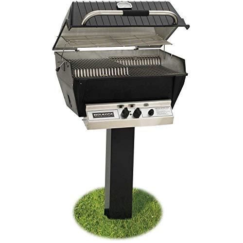 Broilmaster-P3-xfn-Premium-Natural-Gas-Grill-On-Black-In-ground-Post-0