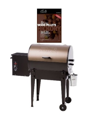 Bundle-of-2-Traeger-Tailgater-TFB30LZB-Pellet-Grill-WITH-20-lb-Traeger-PEL-319-Hickory-Wood-Pellets-0
