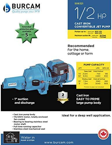 BurCam-506321-Convertible-Cast-Iron-Jet-Pump-12-hp-115230V-0-1