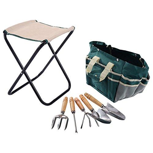 Buzzbuckkie-7-PCS-Garden-Tool-Bag-Set-Folding-Stool-Tools-Gardening-Stainless-Steel-Gift-0-0