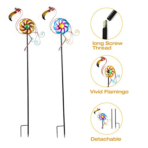 CEDAR-HOME-Wind-Spinner-Sculpture-Garden-Stake-Outdoor-Cute-Metal-Stick-Art-Ornament-Figurine-Decor-for-Lawn-Yard-Patio-2-set-0-0