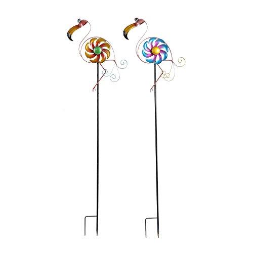 CEDAR-HOME-Wind-Spinner-Sculpture-Garden-Stake-Outdoor-Cute-Metal-Stick-Art-Ornament-Figurine-Decor-for-Lawn-Yard-Patio-2-set-0