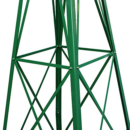 COLIBROX-8FT-Green-Metal-Windmill-Yard-Garden-Decoration-Weather-Rust-Resistant-Wind-Mill-Garden-Metal-Ornamental-Wind-Mill-Weather-Vane-Weather-Resistant-Green-0-2