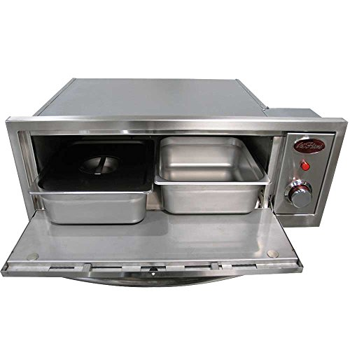 Cal-Flame-BBQ14967E-Oven-110V-2-in-1Includes-Pizza-Brick-Two-SS-with-Cover-Serving-pan-and-Rack-0