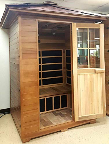 Canadian-Red-Cedar-3-Person-Outdoor-Backyard-Sauna-FIR-Far-Infrared-Spa-0-0