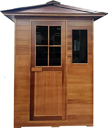Canadian-Red-Cedar-3-Person-Outdoor-Backyard-Sauna-FIR-Far-Infrared-Spa-0