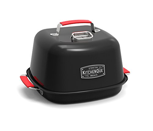 Charcoal-Companion-CC4132-KitchenQue-Indoor-Stovetop-Smoker-155-x-127-x-97-Black-0
