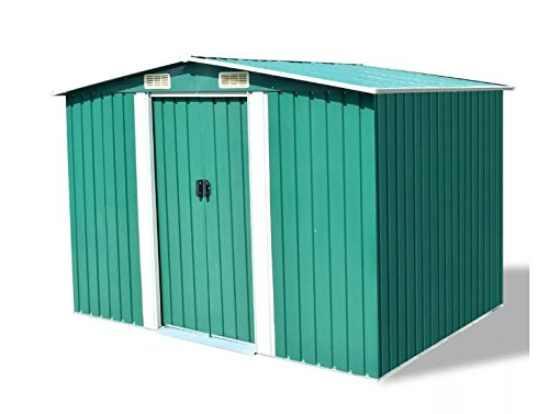 Comfyleads-Garden-Storage-Shed-Green-Metal-Galvanized-steel-durable-strong-excellent-perfect-1012x807x701-0